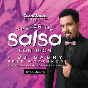 Taller Gratuito de Salsa Cubana con Jhon